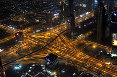 At the top. Burj Khalifa. Dubai. (elsa11) Tags: dubai uae emirates sheikhzayedroad dubaibynight burjkhalifa atthetopburjkhalifa observationdeckburjkhalifa 124thfloorburjkhalifa