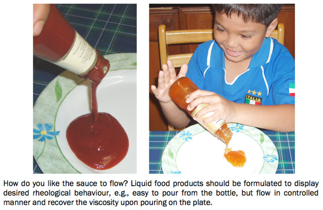 Pouring sauce