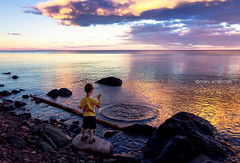 A Summer's Eve, on the Rocks (Boreal Bird) Tags: lucky lakesuperior hss summerseve happysliderssunday aboyandsomerocks rockbliss