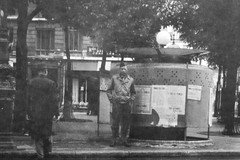 """1940s World War II snapshot photo showing """"Bull"""" of the 9th United States Army Air Forces USAAF, 6th TAC Tactical Air Command waiting outside a pissoir or vespasienne in Paris, France ca: 1945 (thstrand) Tags: city urban man paris france men history architecture french outside soldier outdoors bathroom europe european personal outdoor wwii snapshot cities streetscene bull business worldwarii 1940s american toliet snapshots urinal 20thcentury 1945 pissoir entering parisian worldwar2 secondworldwar worldwartwo publichealth publicrestroom publicurination personalhygiene governmentbuildings usaaf urbanscene scenicviews historicphoto toliets paysdefrance régionparisienne regionparisienne historicalphotograph adultmales nationalcapitol metropolitanarea vespasienne builtstructure parisis iledefranceregion 6thtac îledefranceregion parisaireurbaine geographycountries 6thtacticalaircommand 9thunitedstatearmyairforces"""