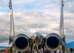 air fighter tail detail (Konstantin Yolshin) Tags: blue summer sky cloud white detail clouds plane airplane back wings war colorful day fighter force aircraft aviation military air tail rear transport wing jet engine aeroplane weapon airship su defense turbine hdr nozzle sukhoi suhoi