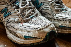 251/365 Battered and worn ! (NSJW photos) Tags: old trainers worn 365 newbalance 365project