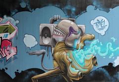 fonkey (Pixeljuice23) Tags: streetart graffiti mainz friendlyfire pixeljuice pixeljuice23