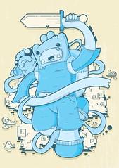 Finn and Jake (Re Mouse) Tags: cloud illustration digital photoshop vectorart jake drawing character cartoon adventure sword illustrator colourful finn vector adventuretime