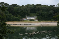 Cellars cottage and beach, St Anthony in Roseland (vanishing eye) Tags: river cornwall stanthony canoneos5d roselandpeninsula placehouse cellarsbeach remotecottage cellarscottage
