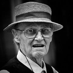 Surprised (CorH) Tags: street city portrait people urban blackandwhite bw white black monochrome blackwhite belgium belgie candid streetphotography antwerp antwerpen straatfotografie corh