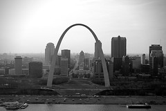 The postcard shot of St. Louis Arch (AKstudios) Tags: life bridge blue winter vacation sky horse usa baby white snow chicago black cute station basketball st architecture clouds canon eos rebel louis hall illinois kid spring downtown miracle awesome hill union tube ak grand slide panoramic missouri corinthian suburbs studios tubing bartlett 2013 550d t2i