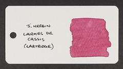 J. Herbin Larmes de Cassis - Word Card