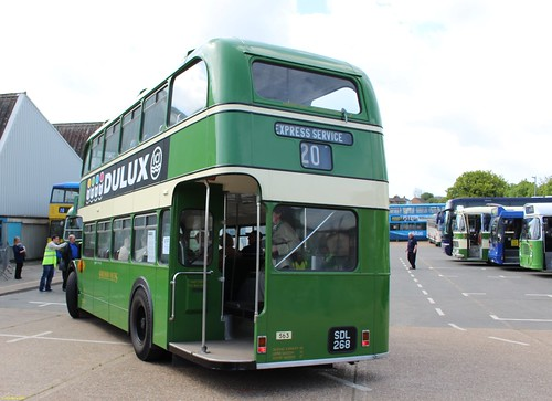 ECW bodied Bristol LD6G SDL268 at IOW Bus Museum Spring Running Day 17 May 2015
