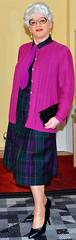 Ingrid019372 (ingrid_bach61) Tags: glasses dress mature brille cardigan haare strickjacke kleid graue durchgeknöpft
