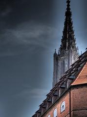 Kirchturm I (Paramedix) Tags: church architecture germany deutschland kirche olympus roofs architektur ulm kirchturm badenwürttemberg dächer em5
