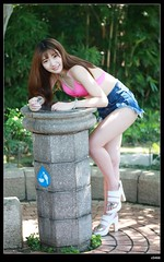 nEO_IMG_DP1U6107 (c0466art) Tags: portrait water girl female canon garden photography model asia doll sweet outdoor gorgeous teacher taipei lovely charming activity direct museun  soceity 1dx c0466art