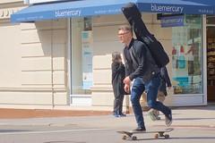 Skateboard traffic on Broadway (Ed Yourdon) Tags: newyork manhattan broadway skateboard upperwestside hood peeps