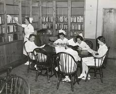 Central Nurses' Residence Library, 1939 (CityOfDave) Tags: nyc newyorkcity newyork library rooseveltisland 1939 19391940 welfareisland centralnursesresidence