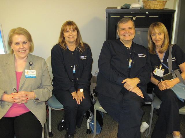 (left) Pat Matos, DNP, RN, NEA-BC; Diane Oran, MN, RN, CNS-BC, NP-BC; Scott Grosz, MSN, RN; Lynda Nannes, RN