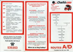 Charlie's Cars, Yeoman's Way, Bournemouth, Dorset (Alwyn Ladell) Tags: dorset bournemouth yeomansway charliescars shamrockrambler routeplanner timetable 1988