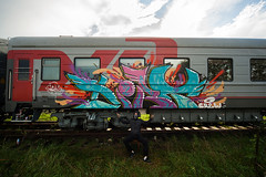 train bombing (livecitizen) Tags: trainbombing art street graffity vandals writers painting spb