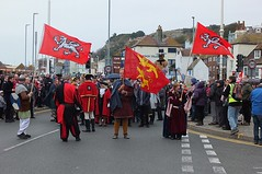 Hastings 1066 Anniversary Parade (crashcalloway) Tags: 1066country hastings eastsussex sussex parade festival southcoast reenactment flags normans saxons