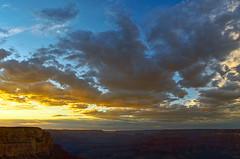 DSC_0867-869 yavapai point sunset hdr 850 (guine) Tags: grandcanyon grandcanyonnationalpark canyon rocks clouds sunset hdr qtpfsgui luminance