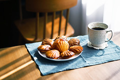 in search of lost time... (Helen.Yang) Tags: madeleins cake coffee morning breakfast tableshoot food