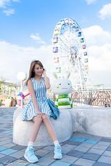 DSC_5043 (Robin Huang 35) Tags: 孫卉彤 candy 兒童新樂園 兒童樂園 遊樂園 lady girl d810 nikon 摩天輪