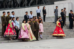 Wedding party at the Munsudae Grand Monument Pyongyang, North Korea (DPRK) (tommcshanephotography) Tags: adventure asia communism dprk democraticpeoplesrepublicofkorea expedition exploring kimilsung kimjungil kimjungun northkorea pyongyang revolution secretcompass travel trekking