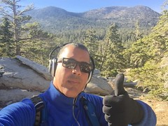 Thumbs Up at Round Valley Loop High Trail - San Jacinto Mountains (Blue Rave) Tags: hills mountains nature trees palmsprings park hike hiking mountsanjacinto mountsanjacintostatepark sanjacintomountains 2016 self myself ego me bloke dude guy male mate people selfie boseheadphones headphones headset roundvalleyloop sunglasses iphonephotography iphoneography thumbsup roundvalleyhike california ca