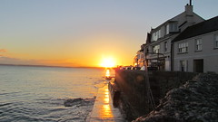 Sunset St Mawes. (daveandlyn1) Tags: sea sunset water reflection coast rocks houses bridgecamera cornwall stmawes december sx30is powershot canon