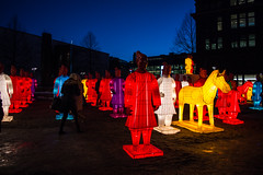The Lanterns of Terracotta Warriors (Jori Samonen) Tags: lantern terracotta warrior army china chinese horse person building sky kamppi helsinki finland nikon d3200 180550 mm f3556