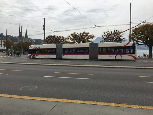 VBL Trolleybus #402 in Lucerne, Switzerland