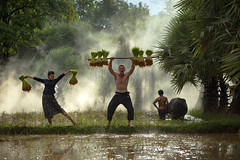 Family Farmer (Sutipond Somnam) Tags: farming farmer man woman crazy family together laos vietnam cambodia myanmar garden agriculture westermn happy poor feild animal portrait people