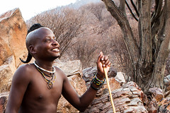 Young Himba Male 4017-2 (Ursula in Aus) Tags: africa namibia portrait himba male offcameraflash