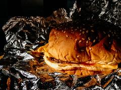 Five Guys Little Cheeseburger (mdss68) Tags: fiveguys cheeseburger iphone4 manchester