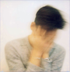 All Just A Blur (Mikah_Manansala) Tags: analogue film filmforever ilovefilm ishootfilm polaroid sx70 selfportrait blur impossible