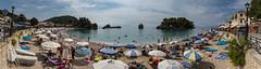 Beach life (Thomas Mulchi) Tags: parga epirus greece 2016 panorama beach sea beachlife bay gr