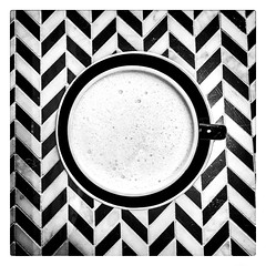 Morning geometry. (kathleenjanegan) Tags: blackandwhite homemadechai morningtea geometric geometry parallelogram circle lines shapes patterns