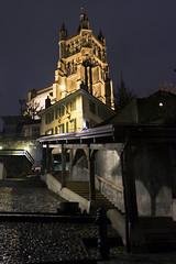 Cathédrale (anarchitecte) Tags: lausanne nikon suisse vaud d7100 tamron 2470mm28 nuit night lumière light licht urbain urban