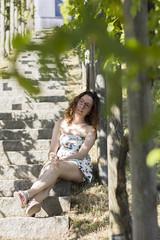 Bellule sous les vignes freiburg (ehaasdelaguerra) Tags: vignes escalier portrait
