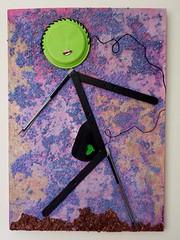 Il viaggio (Daniela Bellofiore Artista) Tags: quadri arte riciclo viaggio lilla pittura