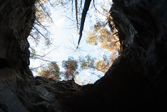 Looking up the natural bridge