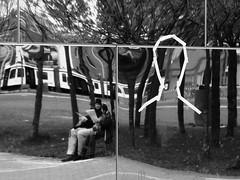 Distortion (Miranda Ruiter) Tags: amsterdam museumplein blackandwhite photography mirrors distortion