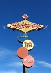 Repurposed Futurama Bowl Sign - San Jose, California (hmdavid) Tags: vintage sign california midcentury design futuramabowl sanjose 1960s neon signage roadside advertising googie safeway pacificneon