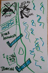 Cartoon of GRN coal export work (eustatic) Tags: grn coal cartoon victory publiclab