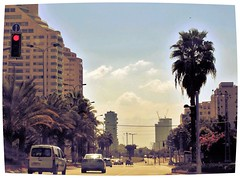 From the windshield (Photogioco) Tags: israel travel telaviv town turquoise sea promenade fishman fun