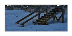 Beached. (prendergasttony) Tags: elements outdoors nature sand sea florida night wood nikon d7200 beach usa america shore coast seaside atlantic pier steps dunes jacksonville ocean