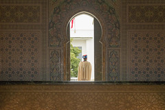 Guard at Archway, Mohammed V Mausoleum (Sue_Hutton) Tags: maroc morocco november2016 rabat autumn northernmorocco