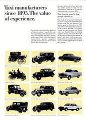 Mercedes-Benz Historic Taxicabs (aldenjewell) Tags: mercedes benz taxis taxicabs world cities historic 1967 brochure