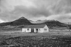 Iceland sanctuary.(explored). (miketonge) Tags: blackandwhite barn croft iceland snaefellsnes mountains