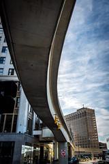 46/52-3: Detroit (JoyVanBuhler) Tags: project5x7 detroit michigan usa us building monorail