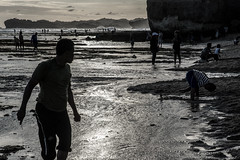 Day at the Beach-DSC_7060 (thomschphotography3) Tags: indonesia java beach sunset water ocean streetphotography silhouette people